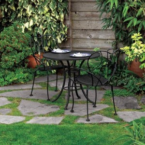 patio furniture flagstone