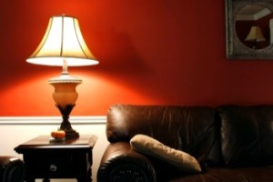 lamp-orange-wall